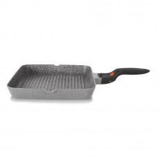 Квадратная сковорода - гриль Fissman La Granite со съемной ручкой 28 х 28 х 4.5 см.