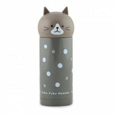 Детский термос Fissman 250 мл серый Кошка