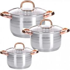 28810 набор посуды 6пр 2+2,5+3,5 л mb (х4)