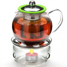25674 чайник стекло 800мл+ подогрев,сито мв (х12)