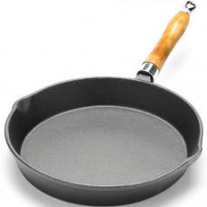26793 сковорода 25см дер/ручка чугун мв (х6)
