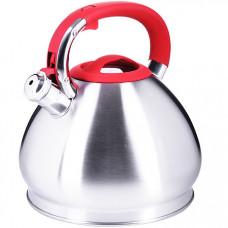 28988 чайник 4,3 л нерж/сталь со свистком mb (х12)