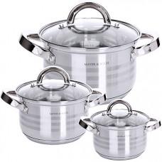 29049 набор посуды 6пр нерж 2,1+2,9+3,9л mb (х4)
