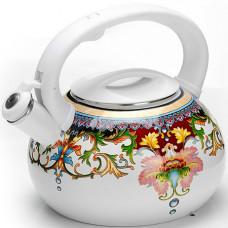 26488 чайник эмаль 3л с/кр узор mb (х12)