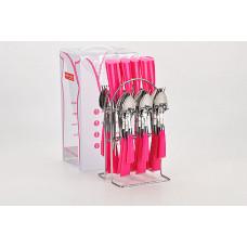Набор столовых приборов 20687-3 24пр пластик ручка на стойке *12