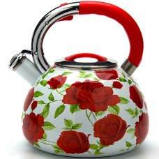23852 чайник 3,5л со свистком эмаль мв (х12)