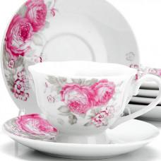 """Набор чайный 25920 12пр 150мл """"цветы"""" lr *6"""