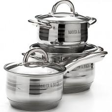 25667 набор посуды 6пр 2,1+2,1+3,9л с/кр mb (х4)