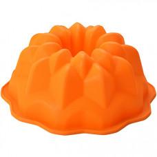 28061-1 форма д/выпечки 1,8л силикон оранжевая mb (х72)