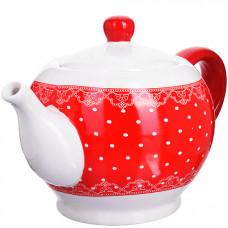 25819 завар/чайник с/кр 950мл красный узор lr(х18)