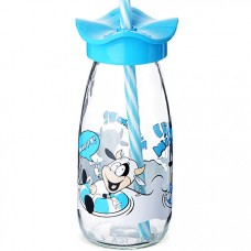 80517 бутылка для смузи стекло голубой 250 мл mb (х24)
