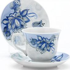 25786 чайный набор 12пр 220мл фарфор под/уп lr(х8)