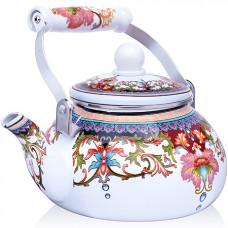 27979 чайник эмаль 2,5 л с/кр узор mb (х12)