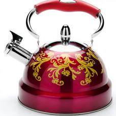 27545 чайник 2,6л с/кр с свистком красный mb (х12)