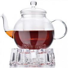 27598 чайник стекло 800мл+ подогрев,сито мв (х12)