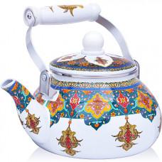 27980 чайник эмаль 2,5 л с/кр узор mb (х12)