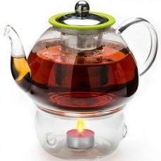 25677 чайник стекло 1,2л+ подогрев,сито мв (х12)