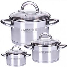 29053 набор посуды 6пр нерж 2+2,8+3,8л mb (х4)