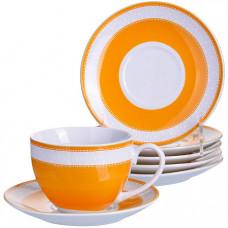 28580 чайный набор 12пр 220мл фарфор под/уп lr(х8)