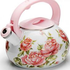 26486 чайник эмаль 3л с/кр цветы mb (х12)