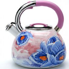23850 чайник со свистком покрытый эмалью, 3,5 литра, мв, в упаковке 12 штук