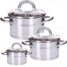 29052 набор посуды 6пр нерж 2+2,8+3,8л mb (х4)