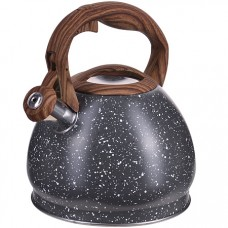 28444 чайник 3 л нерж/сталь со свистком mb (х12)