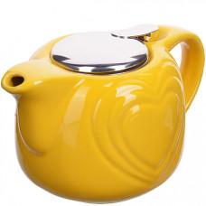 28681-1 заварочный чайник керамика желтый 750 мл lr (х24)