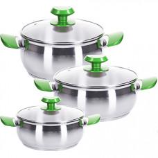 80273 набор посуды 6пр 1,6+2,2+2,4л турция мв(х4)