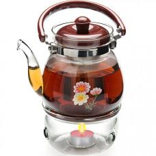 25676 чайник стекло 1,1л+ подогрев,сито мв (х12)
