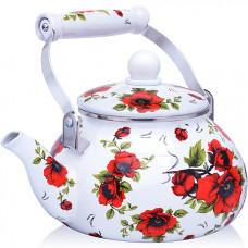 27977 чайник эмаль 2,5 л с/кр розы mb (х12)