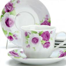 25914 чайный сервиз 12пр 220мл цветы lr (х6)
