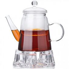 27600 чайник стеклянный, 800 миллилитров, подогрев, сито, мв, в упаковке 12 штук