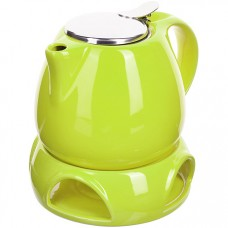 28685-2 завар/чайник зеленый 750мл подст/подогрев lr (х8)