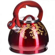 28442 чайник 3 л нерж/сталь со свистком mb (х12)