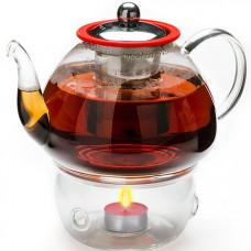 25678 чайник стекло 1,2л+ подогрев,сито мв (х12)