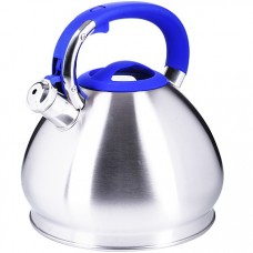 28987 чайник 4,3 л нерж/сталь со свистком mb (х12)