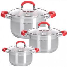 28818 набор посуды 6пр 2+2,5+3,5 л mb (х4)