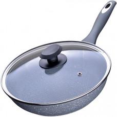 23571 сковорода мраморн.крошка 24см с крыш мв (х8)
