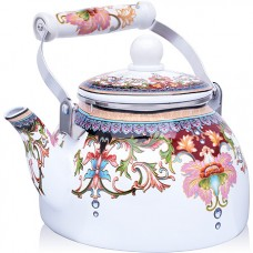 27983 чайник эмаль 2,5 л с/кр узор mb (х18)