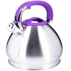 28989 чайник 4,3 л нерж/сталь со свистком mb (х12)