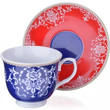 27885 чайный сервиз фарфор 12 пр 220мл lr (х6)