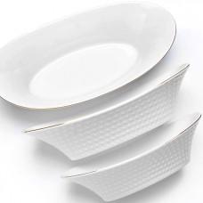 26516 набор салатников 3пр 23х28х33см lr (х8)