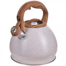 28443 чайник 3 л нерж/сталь со свистком mb (х12)