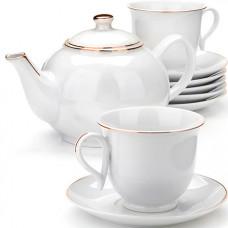 25935 чайный сервиз14пр с чайником 1л lr (х4)