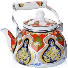 "27495 чайник эмаль 2,5л с/кр ""узор"" mb (х18)"