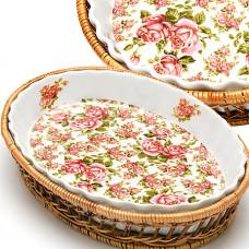 Форма 24798 для запекания плетеная поставка 2,1л 33*5см розы *8