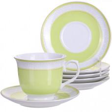28575 чайный набор 12пр 220мл фарфор под/уп lr(х8)