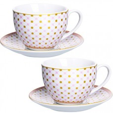28655 чайная пара 4 предмета 220мл lr (х12)