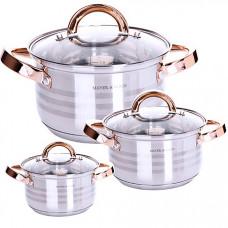 29050 набор посуды 6пр нерж 2,1+2,9+3,9л mb (х4)